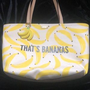 NWOT Kate Spade That's Bananas tote & keychain